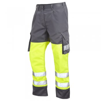 Bideford Yellow Grey Contrast Combat High Vis Trousers