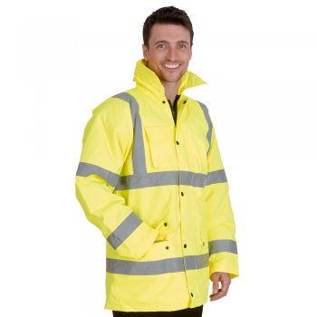 UC803 High Vis Waterproof Coat by Uneek