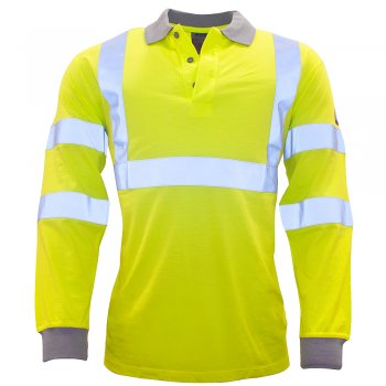 FR77 High Vis Fire Retardant ARC Poloshirt
