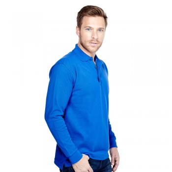 UC113 Long Sleeve Poloshirt by Uneek