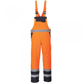 S488 Bib & Brace, Rail, High Vis, Waterproof